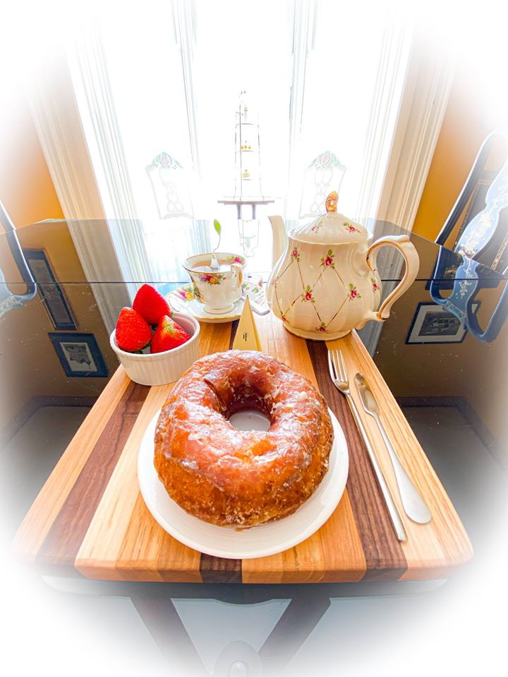 Enjoy your Afternoon Tea at The BUTLER HOUSE at The Cherry Creek Inn Amish Donuts Jasmine Green Tea Forte 2020